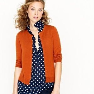 J. Crew Jackie Cardigan in Orange